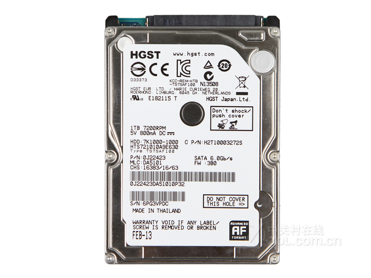 HDD notebook 1 TB S-ATA HGST 7K1000 2.5