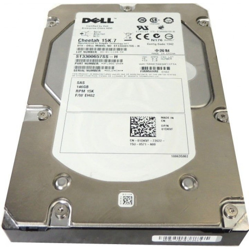 """HDD 146 GB SAS Dell 3.5"""" 15k RPM - second hand"""