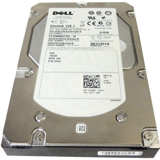 "HDD 146 GB SAS Dell 3.5"" 15k RPM - second hand"