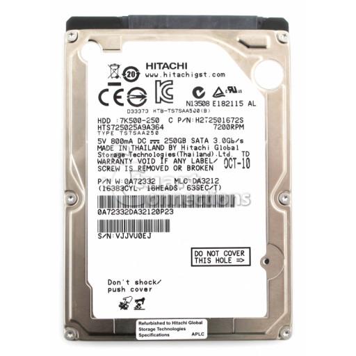 "HDD 250 GB S-ATA Hitachi 2.5"" - RECONDITIONAT"