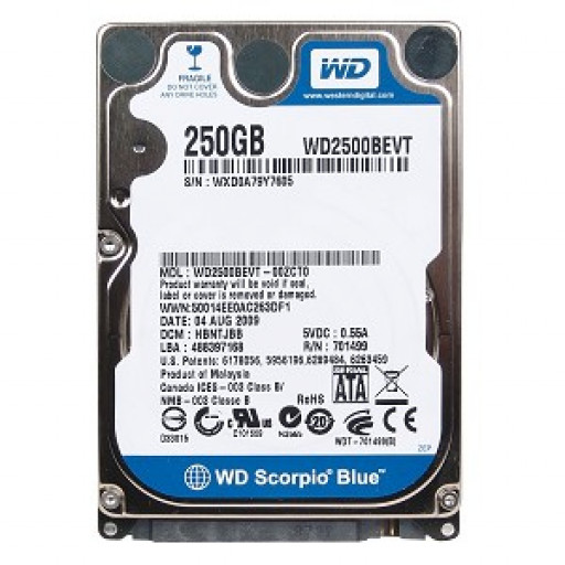 "HDD notebook 250 GB S-ATA Western Digital 2.5"" - second hand"