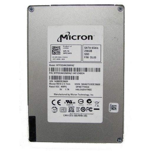 """SSD Micron 256 GB 2.5"""" 7mm - second hand"""