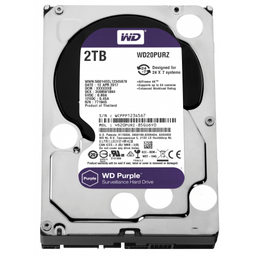 HDD 2 TB Western Digital Purple WD20PURZ SATA-III 3.5""