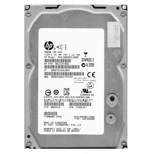 "HDD 300 GB HP SAS 15k RPM 3.5"" - second hand"