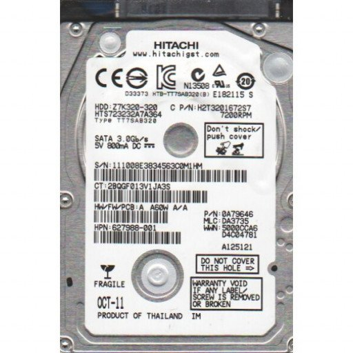 HDD notebook 320GB S-ATA Hitachi 2.5""