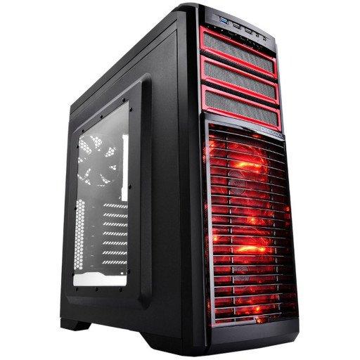 Carcasa DeepCool KENDOMEN RD, ATX, fara sursa - Black/Red