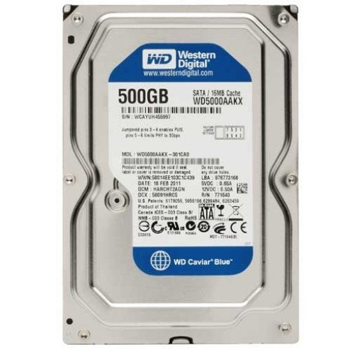 "HDD Western Digital Blue 500 GB SATA-III 3.5"" - second hand"