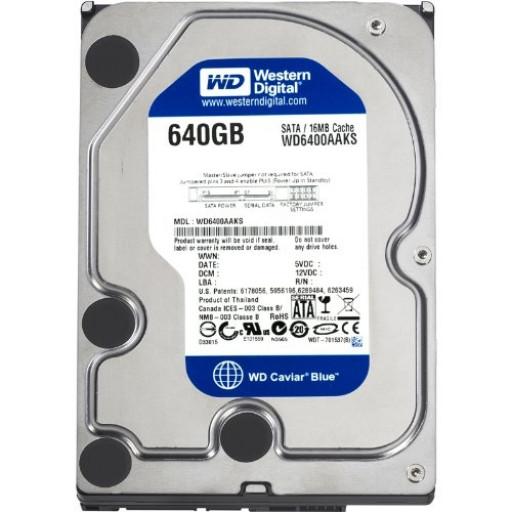 """HDD 640 GB Western Digital Blue SATA 3.5"""" - second hand"""