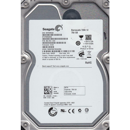 HDD 750GB Seagate ST3750528AS SATA-II 3.5""