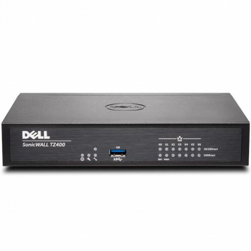 DELL SonicWALL TZ400, 4x800MHz cores, 1GB RAM, 64MB Flash,  8 x RJ45 Ports 10/100/1000, USB, VPN, VLAN