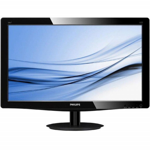 Monitor LED Philips 223V5LSB2/10, V-line, 21.5'' 1920x1080@60Hz, 16:9, TN, 5ms, 200nits, Black, 3 Years, VESA100x100/VGA/
