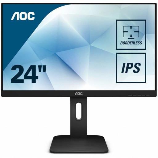 "AOC Monitor LED 24P1 PRO (23.8"", 16:9, 1920x1080, IPS, 250 cd/m², 1000:1, 50M:1, 5 ms, 178/178°, VGA, DP, HDMI, DVI, 4 x USB 3.0, Audio OUT, Speakers, Tilt: -5/+35°, Swivel, Tilt, H. Adjust, VESA, Ergonomic, Borderless) Black, 3y"