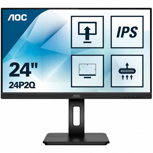 Monitor 23.8'' AOC 24P2Q Black IPS, 16:9, 1920x1080, 4ms, 250 cd/m2, 1000:1, D-Sub, DVI, HDMI, DP, USBhub, 2Wx2, vesa
