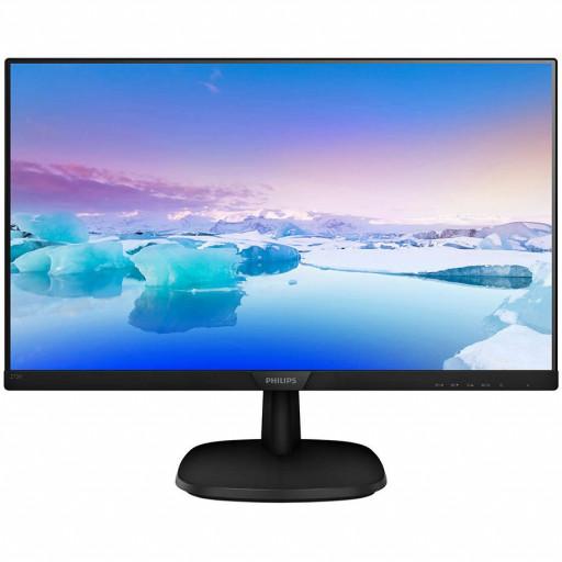 Monitor LED Philips 273V7QDSB/00, V-line, 27'' 1920x1080@60Hz, 16:9, IPS, 5ms, 250nits, BLack, 3 Years, VESA100x100/VGA/DVI/HDMI