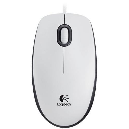 LOGITECH Corded Mouse M100 - EMEA - WHITE