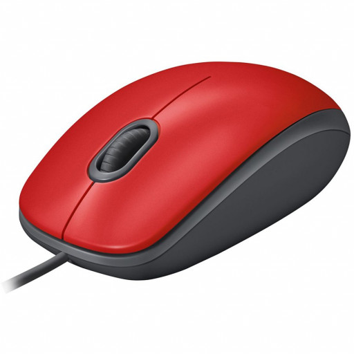 LOGITECH M110 Silent - RED - USB - EMEA - ARCA M110S