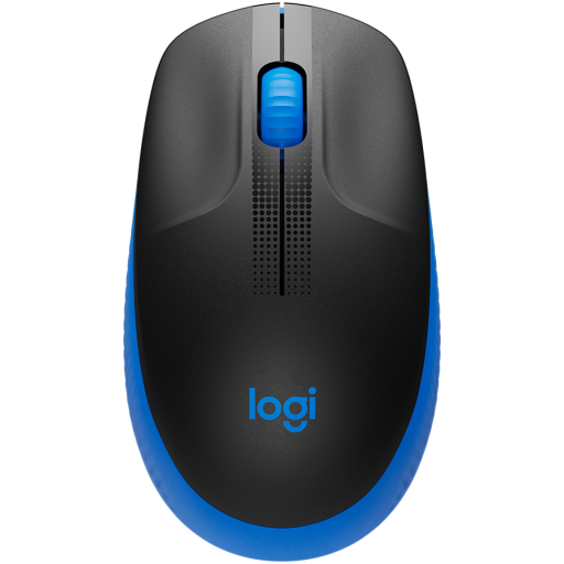 LOGITECH M190 Full-size wireless mouse - BLUE - 2.4GHZ - EMEA - M190