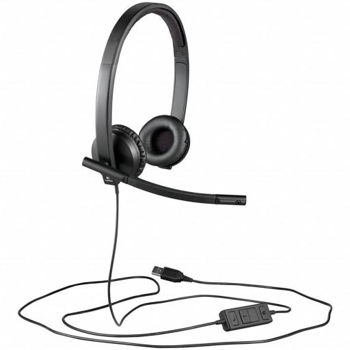 LOGITECH UC Corded Stereo USB Headset H570e (Leatherette Pad) - Business EMEA