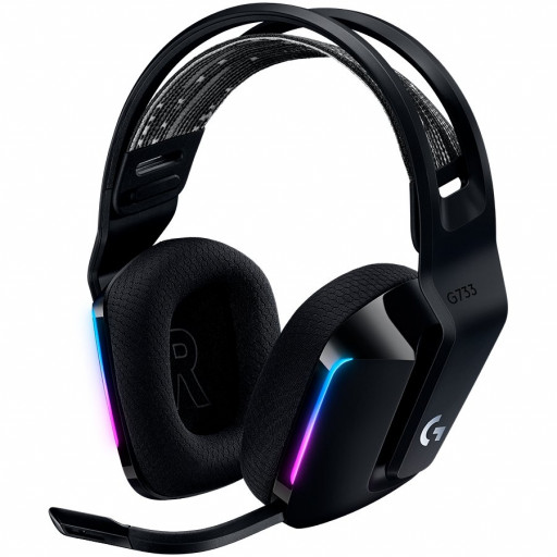 LOGITECH G733 LIGHTSPEED Wireless RGB Gaming Headset - BLACK - 2.4GHZ - EMEA
