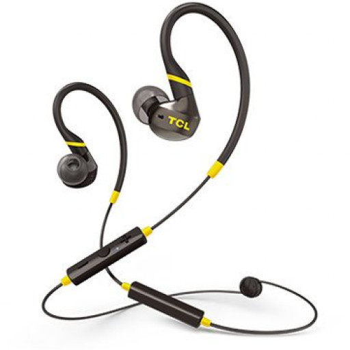 TCL In-ear Bluetooth Sport Headset, IPX4, Frequency of response: 10-22K, Sensitivity: 100 dB, Driver Size: 8.6mm, Impedence: 16 Ohm, Acoustic system: closed, Max power input: 20mW, Bluetooth (BT 5.0) & 3.5mm jack, Color Monza Black