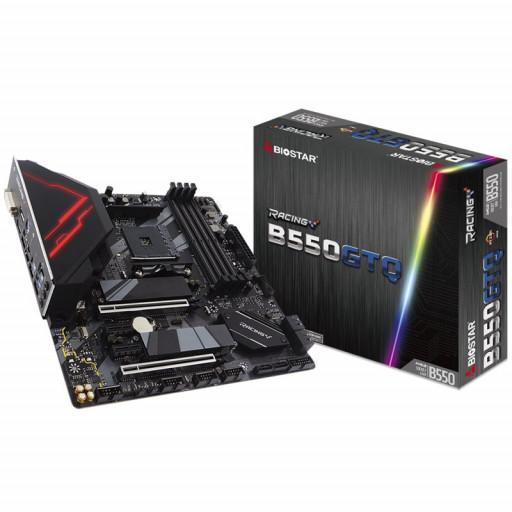 BIOSTAR Main Board Desktop B550, AM4, 4xDDR4, HDMI/DVI/DP, 2xPCIe x16, 2xPCIe x1, 2xM.2, 4xSATA, GbE LAN, mATX