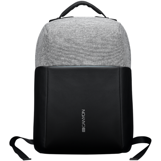 "Anti-theft backpack for 15.6""-17"" laptop, material 900D glued polyester and 600D polyester, black/dark gray, USB cable length0.6M, 400x210x480mm, 1kg,capacity 20L"