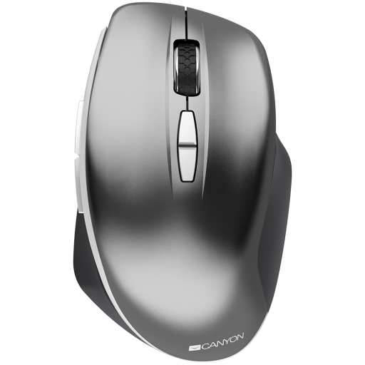 Canyon  2.4 GHz  Wireless mouse ,with 7 buttons, DPI 800/1200/1600, Battery:AAA*2pcs  ,Dark gray72*117*41mm 0.075kg