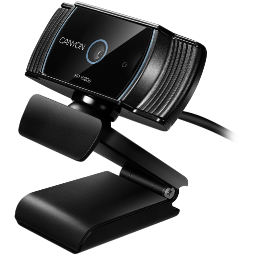 CANYON 1080P full HD 2.0Mega auto focus webcam with USB2.0 connector, 360 degree rotary view scope, built in MIC, IC Sunplus2281, Sensor OV2735, viewing angle 65°, cable length 2.0m, Black, 76.3x49.8x54mm, 0.106kg