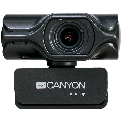 CANYON 2k Ultra full HD 3.2Mega webcam with USB2.0 connector, built-in MIC, Manual focus, IC SN5262, Sensor Aptina 0330, viewing angle 80°, with tripod, cable length 2.0m, Grey, 61.1*47.7*63.2mm, 0.182kg
