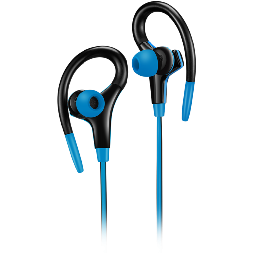 CANYON Stereo sport earphones with microphone, cable length 1.2m, Blue, 32*58*25mm, 0.017kg