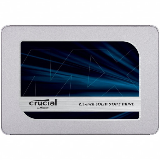 "Crucial SSD 1000GB MX500 SATA 2.5"" 3D TLC NAND 360TBW 560/510 MB/s, 95k/90k IOPS, 5yrs, 7mm (with 9.5mm adapter)"