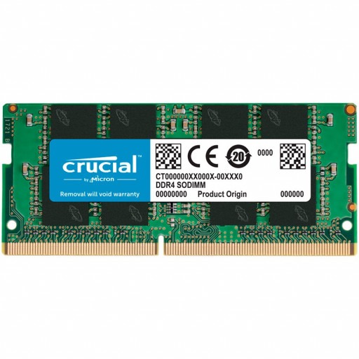CRUCIAL 8GB DDR4-3200 SODIMM CL22 (8Gbit/16Gbit)