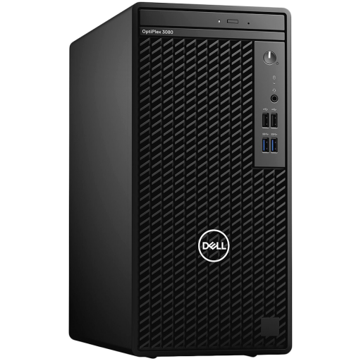 DELL OptiPlex 3080 Tower,Intel Core i5-10500(6 Cores/12MB/12T/3.1GHz to 4.5GHz),8GB(1x8)DDR4,256GB(M.2)NVMe SSD+1TB(HDD)7200rpm,noDVD,Intel Integrated Graphics,noWireless,Dell Mouse-MS116,Dell Keyboard-KB216,Win10Pro,3Yr NBD