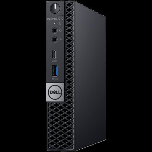 Dell Optiplex 7070 MFF, Intel Core i5-9500T(6 Cores/9MB/6T/2.2GHz to 3.7GHz), 8GB (1x8GB) DDR4 2666MHz, 256GB(M.2)NVMe SSD, Intel Graphics, noDVD, Dell Keybd KB216, Mouse MS116, Win 10 Pro(64bit), 3Yr NBD