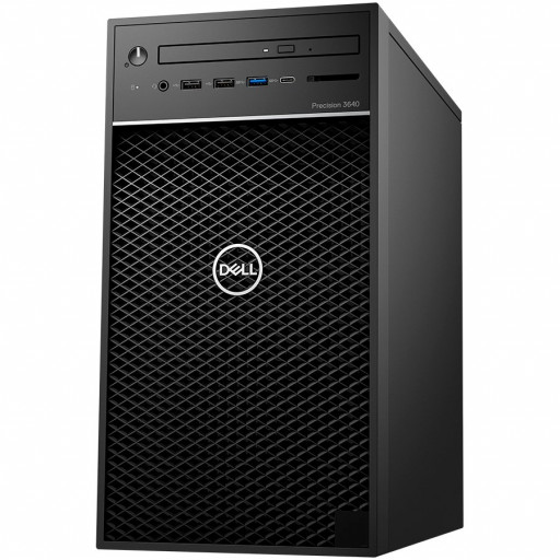 Dell Precision 3640 Tower,Intel Core i7-10700(8Core,16MB Cache 2.9Ghz/4.8GHz),16GB(2x8)2933MHz UDIMM DDR4,256GB(M.2)NVMe SSD,2TB(HDD)3.5 inch 7200rpm,noDVD,Nvidia Quadro P1000/4GB,Dell Mouse-MS116,Dell Keyboard-KB216,Win10Pro,3Yr NBD