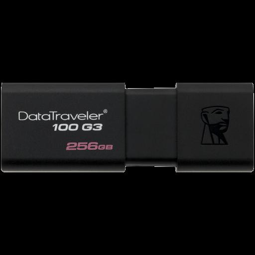 Kingston 256GB USB 3.0 DataTraveler 100 G3 (130MB/s read)  EAN: 740617281460