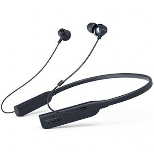 TCL Neckband (in-ear) Bluetooth + ANC Headset, HRA, Frequency: 8-40K, Sensitivity: 100 dB, Driver Size: 12.2mm, Impedence: 32 Ohm, Acoustic system: closed, Max power input: 30mW, Bluetooth (BT 4.2) & 3.5mm jack,HiRes Audio & ANC, Color Midnight Blue