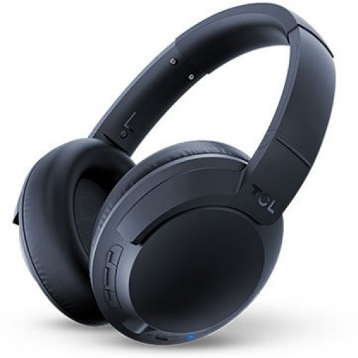 TCL Over-Ear Bluetooth Headset, HRA, slim fold, Frequency of response: 9-40K, Sensitivity: 100 dB, Driver Size: 40mm, Impedence: 24 Ohm, Acoustic system: closed, Max power input: 50mW, Bluetooth (BT 5.0) & 3.5mm jack, Hi-Res Audio,Color Midnight Blue
