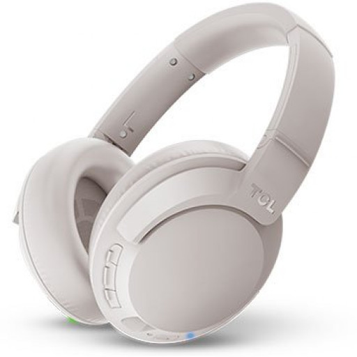 TCL Over-Ear Bluetooth + ANC Headset, HRA , slim fold, Frequency: 9-40K, Sensitivity: 94 dB, Driver Size: 40mm, Impedence: 86 Ohm, Acoustic system: closed, Max power input: 50mW, Bluetooth (BT 4.2) & 3.5mm jack, Hi-Res Audio & ANC, Color Cement Gray