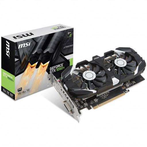 MSI Video Card NVidia GeForce GTX 1050 Ti OC GDDR5 4GB/128bit, 1341MHz/7008MHz, PCI-E 3.0 x16, DP, HDMI, DVI-D, Sleeve 2X Fan Cooler (Double Slot), Retail