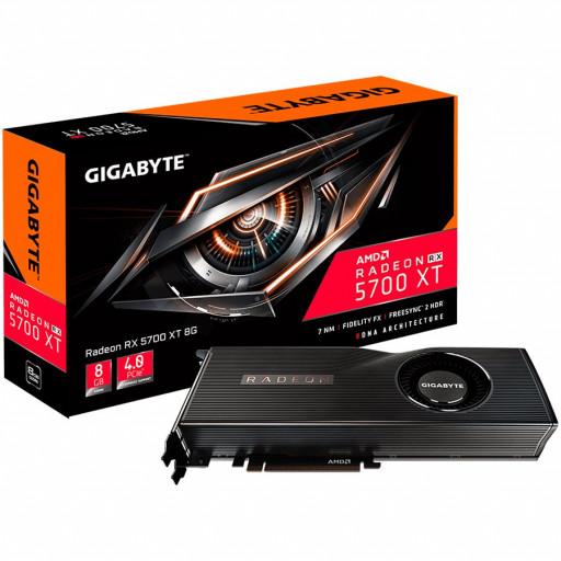 GIGABYTE Video Card AMD Radeon RX 5700 GDDR6 8GB/256bit, 1625MHz/14000MHz, PCI-E 3.0, 3xDP, HDMI, AMD Cooler(Double Slot), Retail