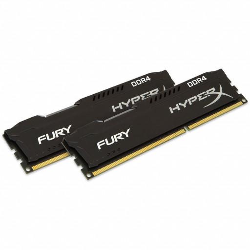 Kingston DRAM 16GB 2666MHz DDR4 CL16 DIMM (Kit of 2) 1Rx8 HyperX FURY Black EAN: 740617293388