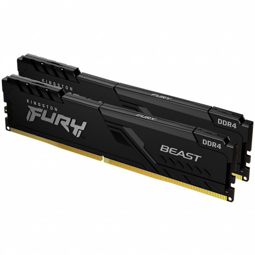 Kingston DRAM 32GB 2666MHz DDR4 CL16 DIMM (Kit of 2) 1Gx8 FURY Beast Black EAN: 740617320145