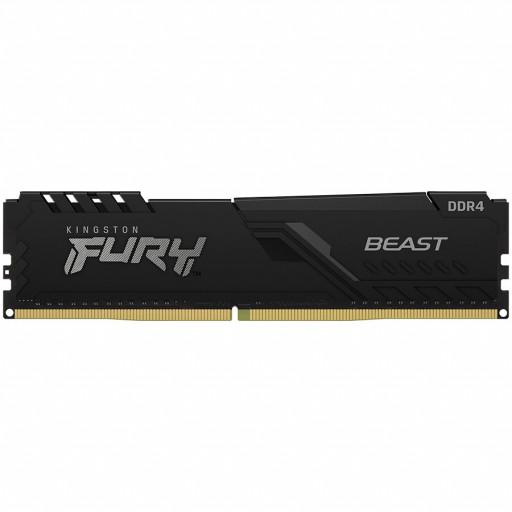 Kingston DRAM 16GB 2666MHz DDR4 CL16 DIMM 1Gx8 FURY Beast Black EAN: 740617320152