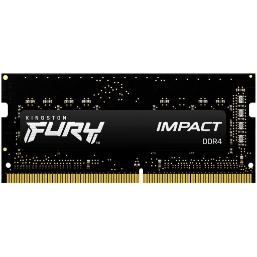 Kingston DRAM 16GB 2666MHz DDR4 CL15 SODIMM 1Gx8 FURY Impact EAN: 740617318579