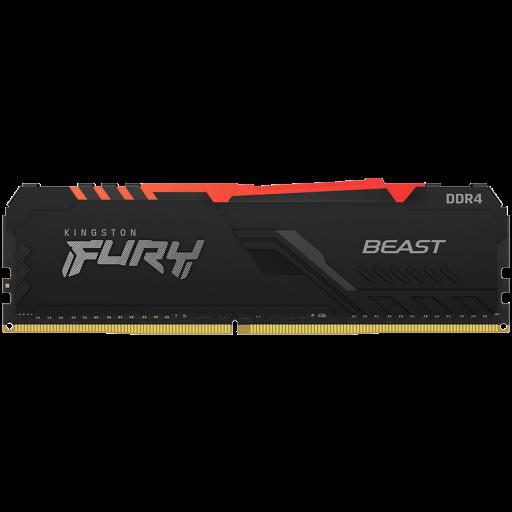 Kingston DRAM 16GB 3200MHz DDR4 CL16 DIMM 1Gx8 FURY Beast RGB EAN: 740617319408