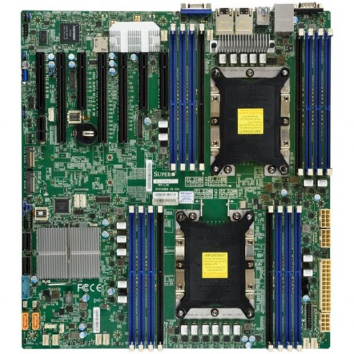 Supermicro Motherboard MBD-X11DPH-I 2xLGA 3647, Intel C621, 16xDDR4, 2x1GbE LAN, 10xSATA3 (6Gbps) RAID 0,1,5,10, 7xUSB 3.0, 1xVGA, 1xCOM, 3xPCI-E 3.0 x16 + 4xPCI-E 3.0 x8, E-ATX, Ret.