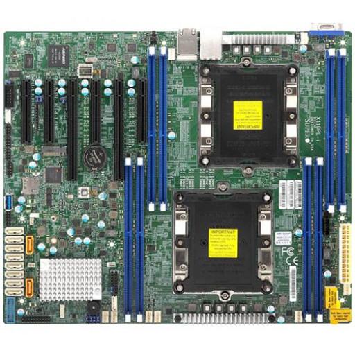 Supermicro Motherboard MBD-X11DPL-I-B 2xLGA 3647, Intel C621, 8xDDR4, 2x1GbE LAN, 10xSATA3 (6Gbps), RAID 0,1,5,10, 4xUSB 2.0 + 3xUSB 3.0, 1xVGA, 1xCOM, 2xPCI-E 3.0 x16, 3xPCI-E 3.0 x8, 1xPCI-E 3.0 x4, ATX Bulk.