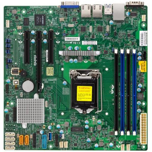 Supermicro MBD-X11SSL-F-B, Single SKT, Intel C232 chipset, 4xDIMMs UDIMM DDR4 2133MHz, 6xSATA3 6G, 2xSATA-DOM, 2x1GbE i210AT, 3xPCIe3.0 slots, Micro-ATX 9.6x9.6, Bulk