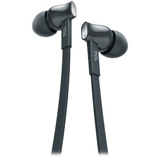 TCL In-ear Wired Headset, Strong Bass, Frequency of response: 10-22K, Sensitivity: 107 dB, Driver Size: 8.6mm, Impedence: 16 Ohm, Acoustic system: closed, Max power input: 20mW, Connectivity type: 3.5mm jack, Color Shadow Black
